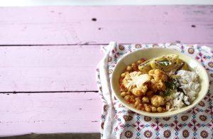 vegetarian curry microwave rice