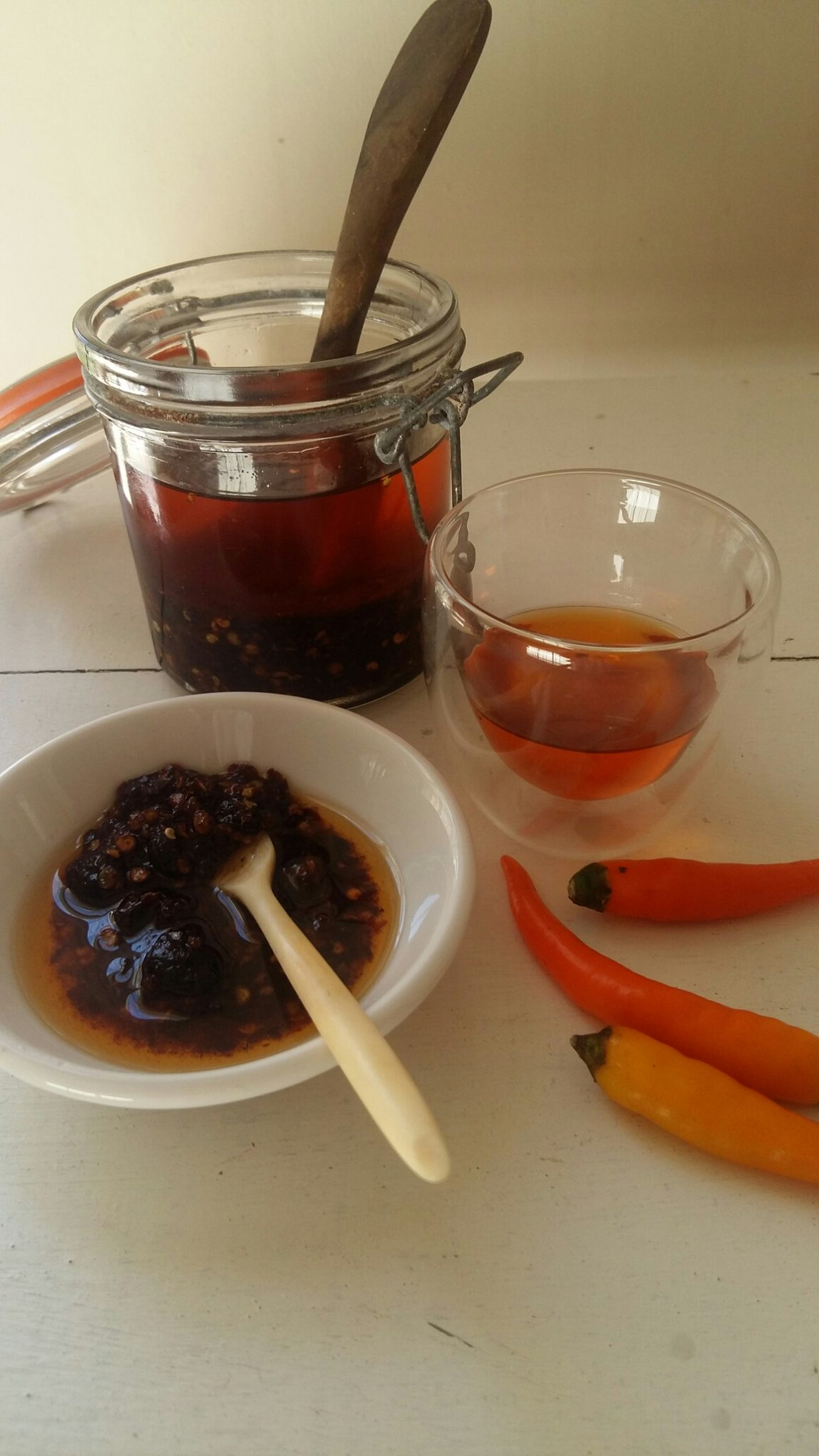 Rich umami tang: spicy roast chilli oil with fermented black beans, garlic and shrimp paste