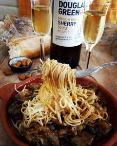 steak mushroom pasta spanish sherry sonia cabano blog eatdrinkcapetown