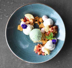 Yoghurt mousse BistroSixteen82 Sonia Cabano blog eatdrinkcapetown