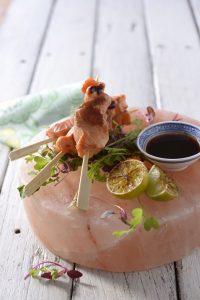 salmon skewers himalayan salt block sonia cabano blog eatdrinkcapetown
