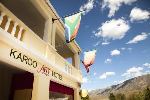 exterior flag karoo art hotel sonia cabano blog eatdrinkcapetown
