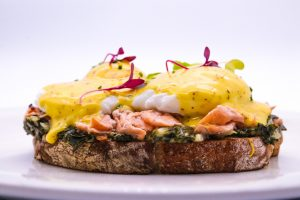 trout eggs benedict cafeteria sonia cabano blog eatdrinkcapetown