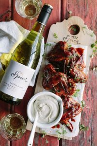 sticky chicken wings spier chenin blanc sonia cabano blog eatdrinkcapetown