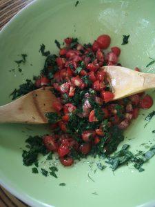 summer pasta herbs tomato mix sonia cabano blog eatdrinkcapetown