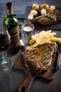 Sizzling, succulent steak and wine at Hussar Grill, Valentine's Special sonia cabano blog eatdrinkcapetown
