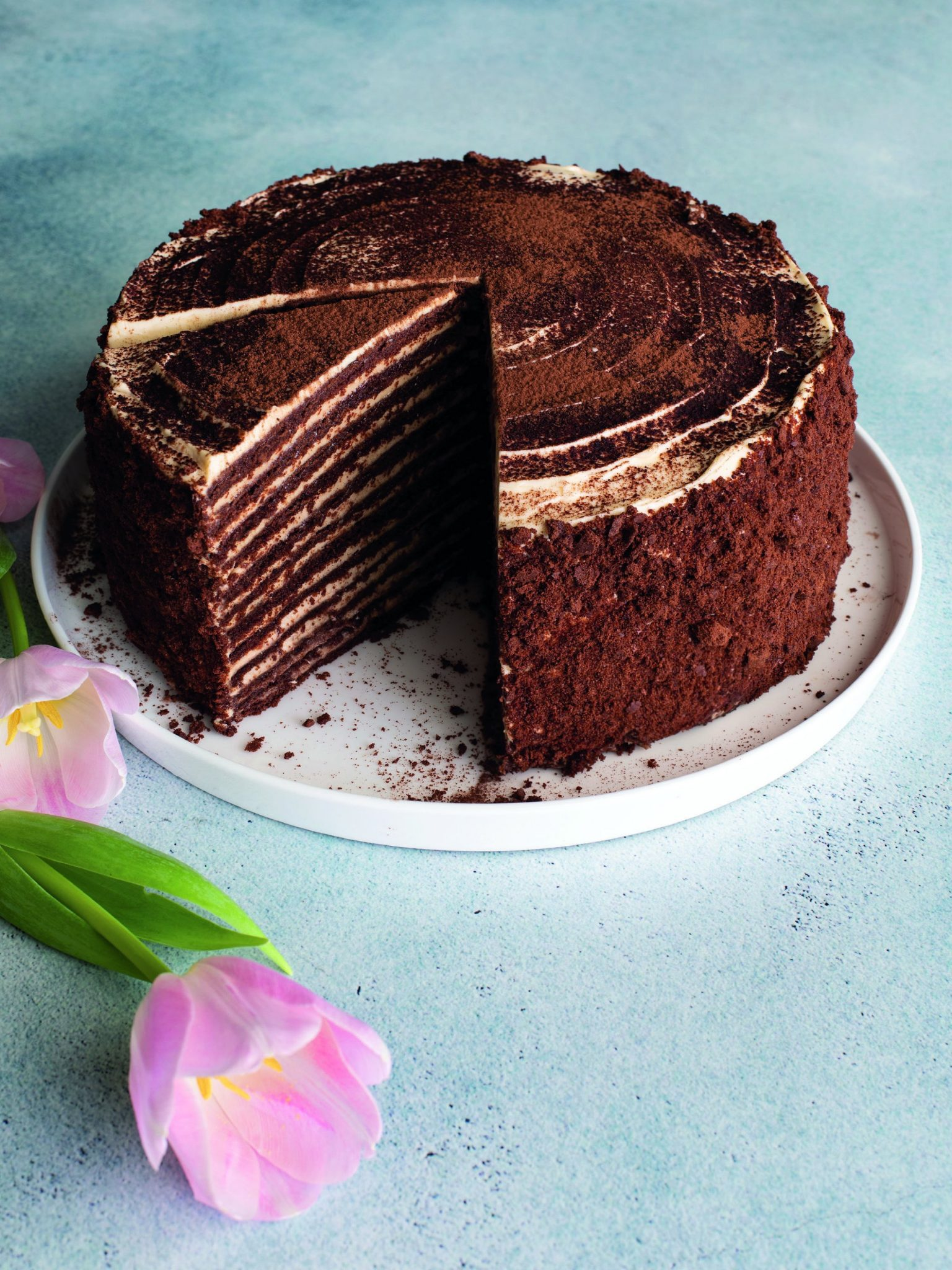 Faaiza Omar's Chocolate Honey Cake from her new cookbook 'My Sweet Life', published by Human & Rousseau Sonia Cabano blog eatdrinkcapetown