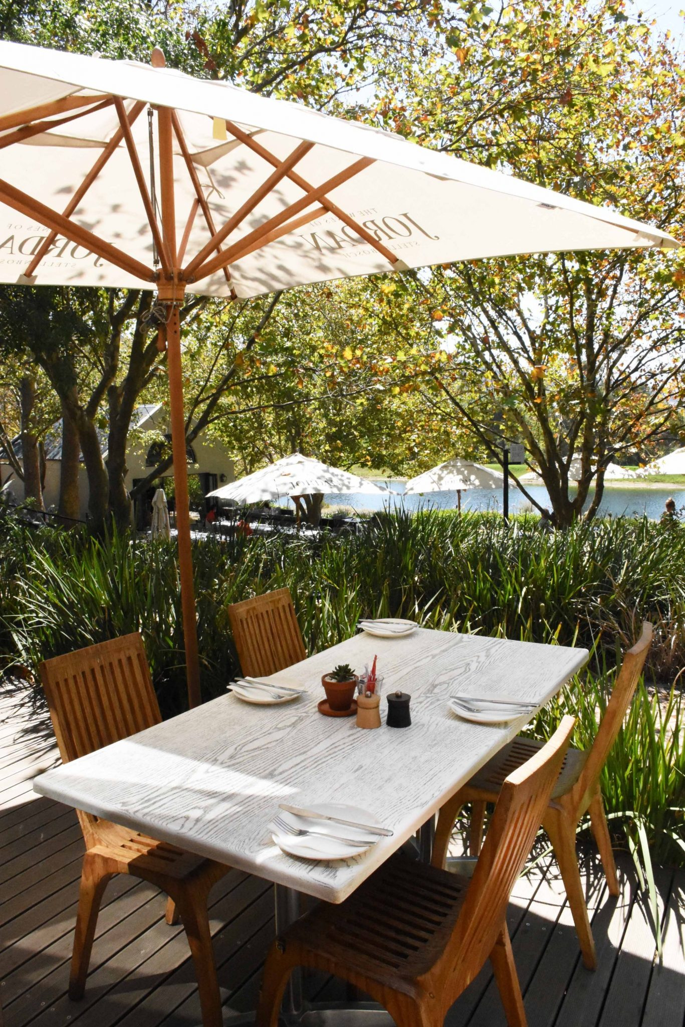 Deck tables alfresco at The Bakery, Jordan Estate, Valentines Day, Sonia Cabano blog eatdrinkcapetown