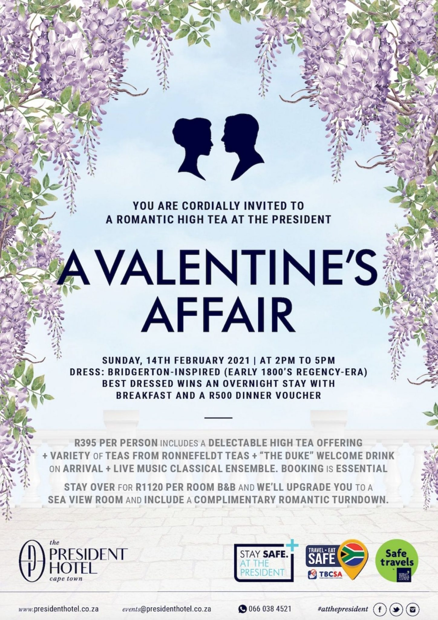 Valentine's Affair at The President Sunday 14 February 2pm - 5pm Sonia Cabano blog eatdrinkcapetown