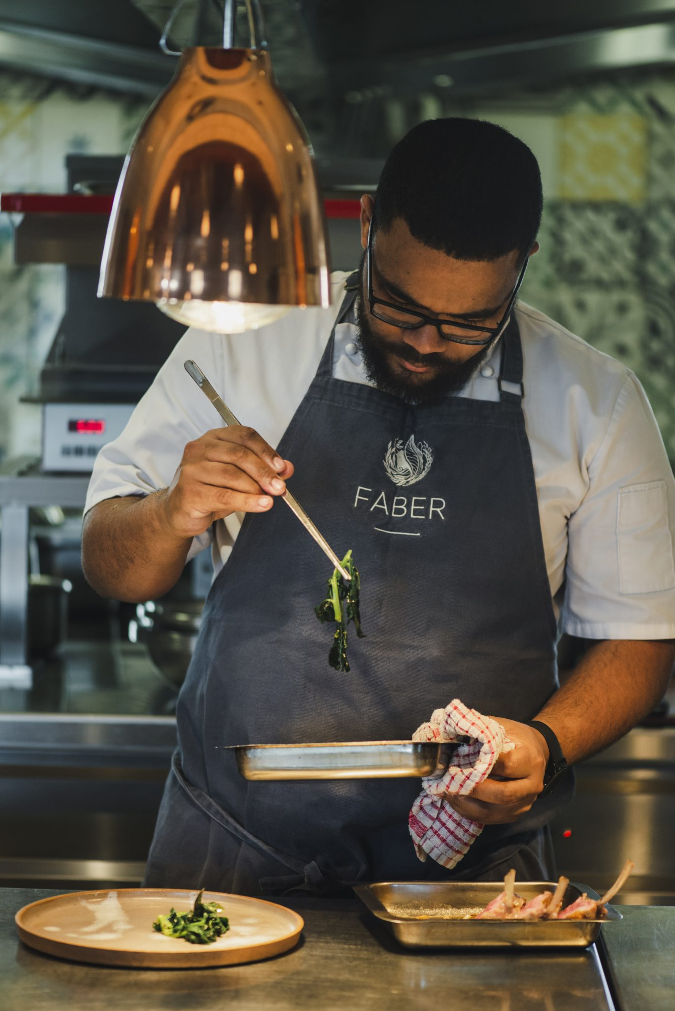 FABERfood chef Dale Stevens working his magic in the kitchen, Avondale, Sonia Cabano blog eatdrinkcapetown